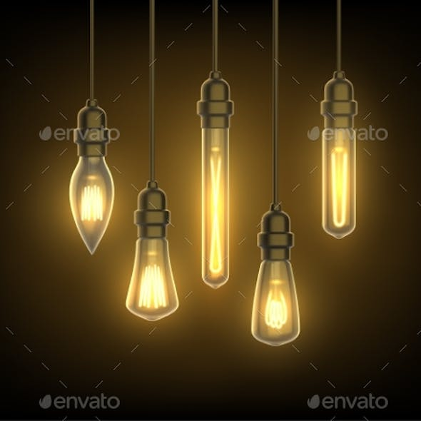 Lantern or Light Bulbs on Wire