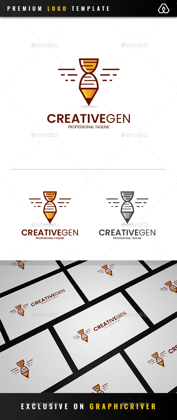 Creative Genetic Logo - Objects Logo Templates