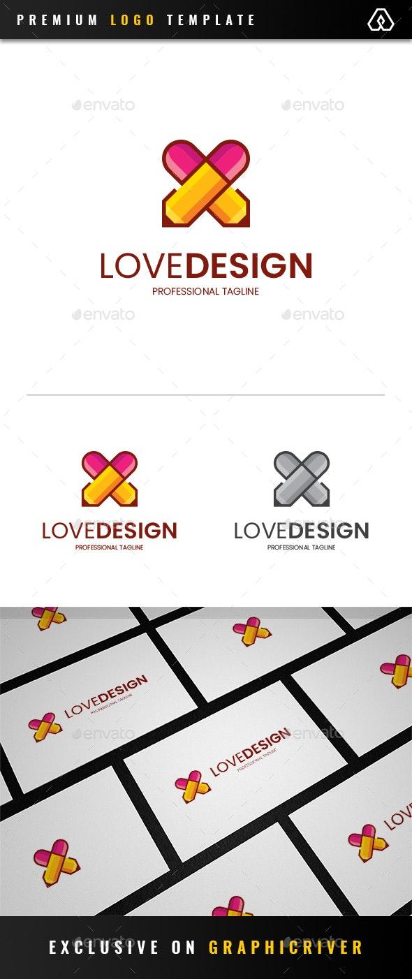 Love Design Logo - Objects Logo Templates