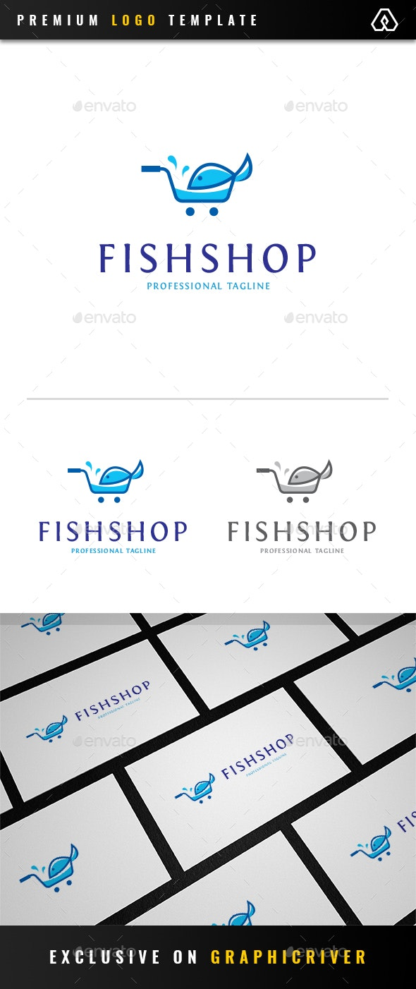 Fish Shop Logo - Animals Logo Templates