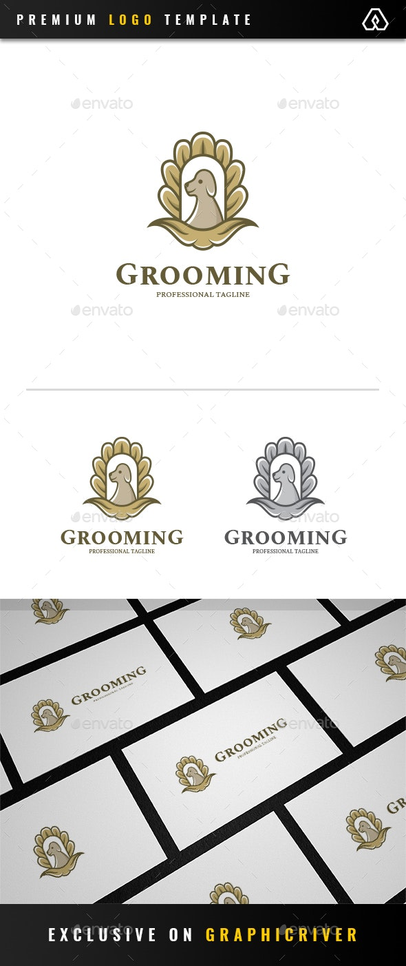Royal Grooming Pet Logo - Animals Logo Templates