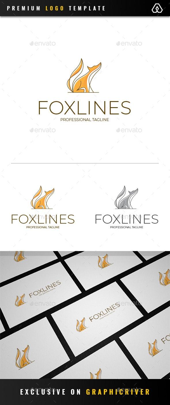 Fox Lines Logo - Animals Logo Templates
