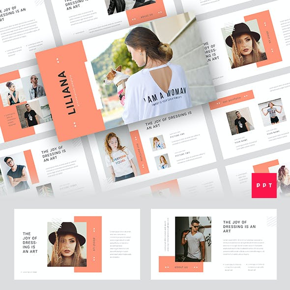 Liliana - Fashion Style PowerPoint Template