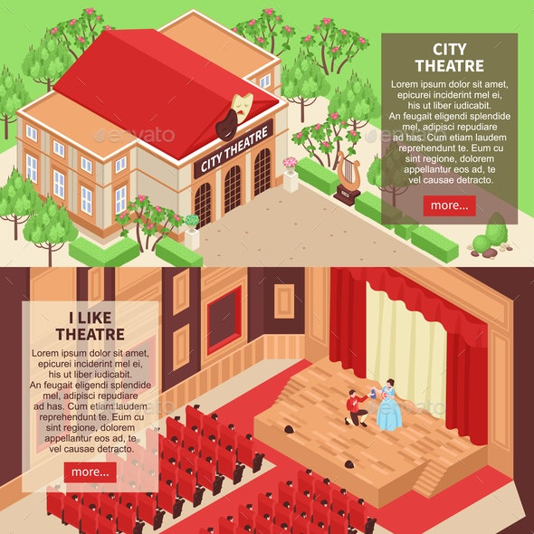 Theatre Banners Set - Backgrounds Business