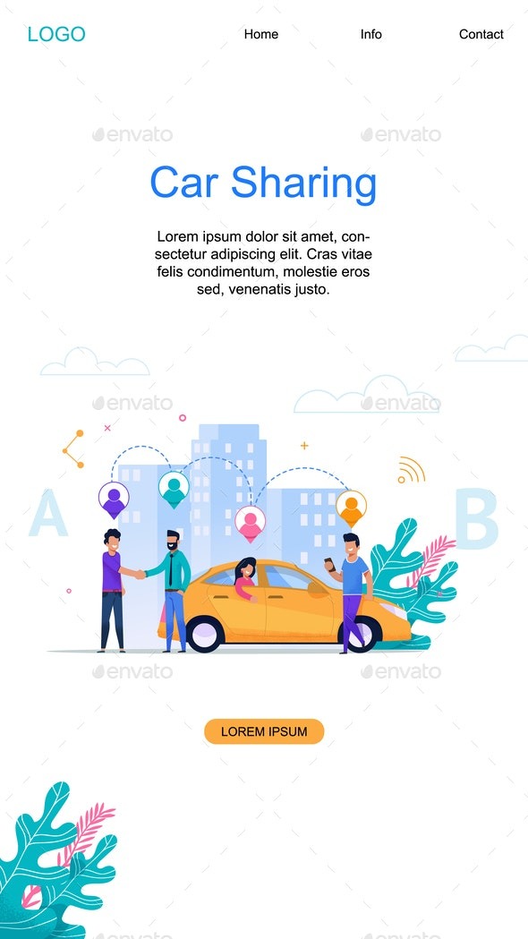 Car Sharing Vertical Banner - Industries Business