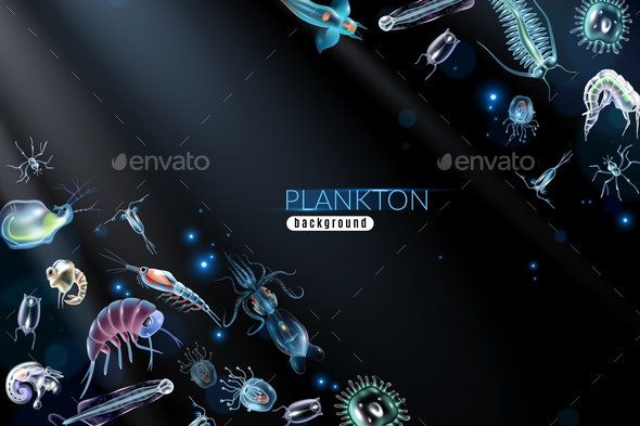 Plankton Abstract Background - Animals Characters