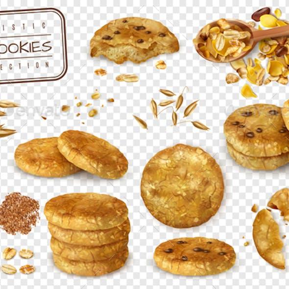 Oat Cookies Transparent Set