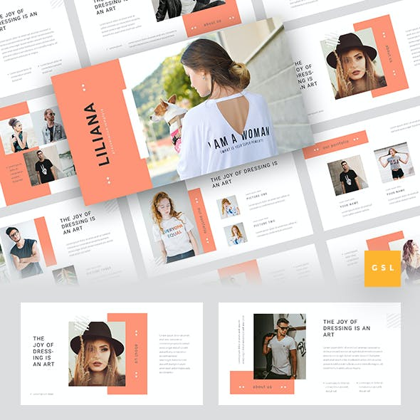 Liliana - Fashion Style Google Slides Template