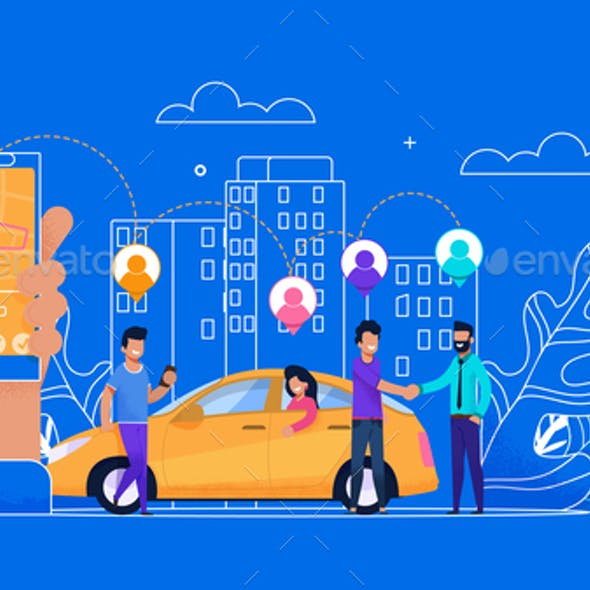 Carsharing Online Simple Flat