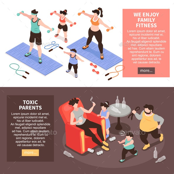 Family Activities Horizontal Banners - Sports/Activity Conceptual