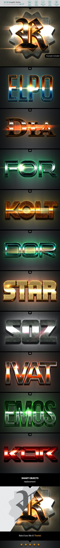 10 3D Styles vol. 17 - Styles Photoshop
