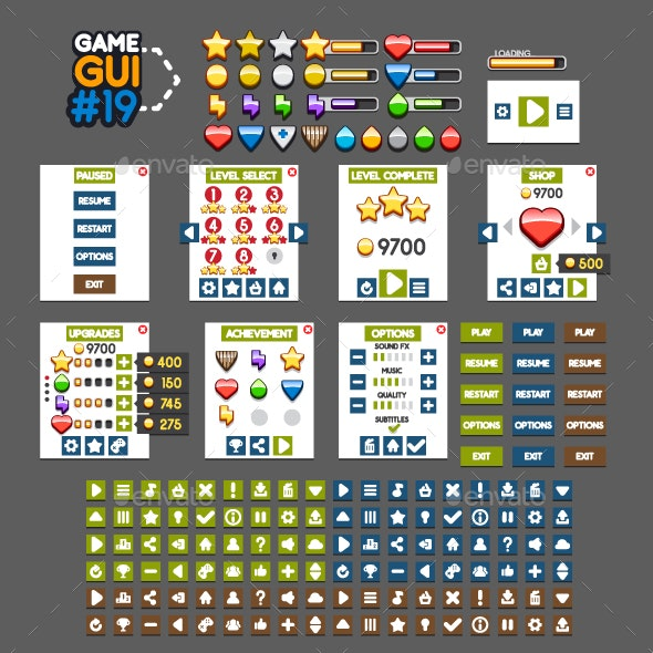 Game GUI #19 - User Interfaces Game Assets