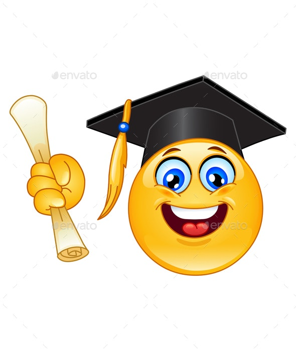 Graduation Emoticon - People Characters