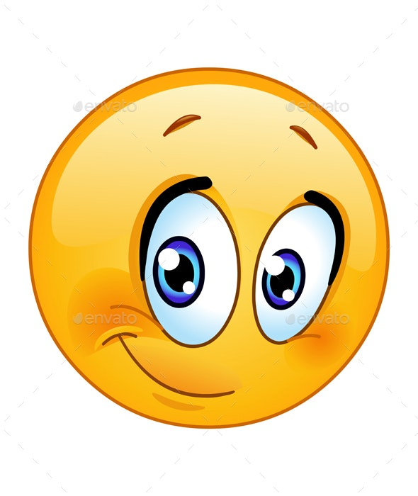 Half Smile Emoticon - People Characters