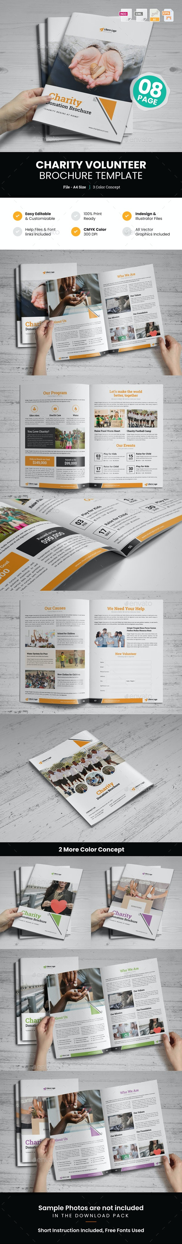 Charity Volunteer Donation Brochure v1 - Corporate Brochures
