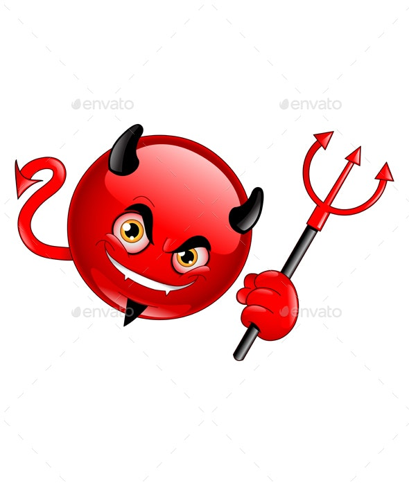 Devil Emoticon - Monsters Characters