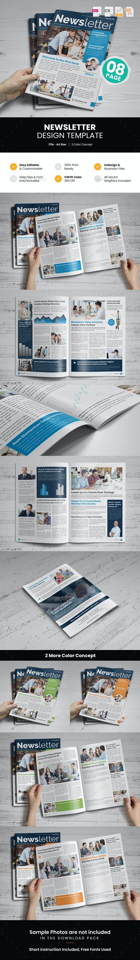 Newsletter Design v1 - Newsletters Print Templates