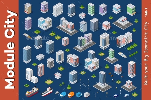Architecture Vector Illustration - Buildings Objects