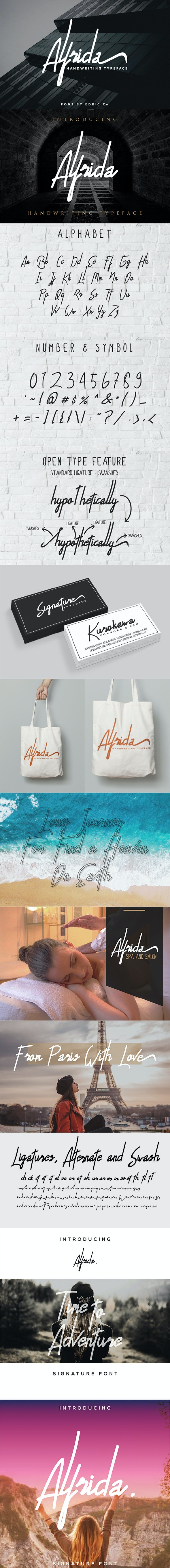 Alfrida Signature - Handwriting Fonts