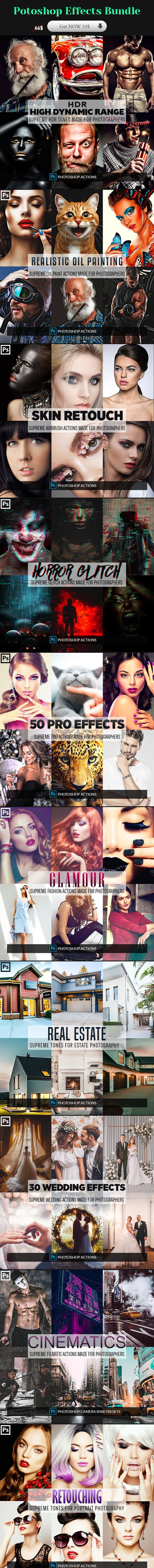 Photoshop Effects Bundle - Photo Effects Actions