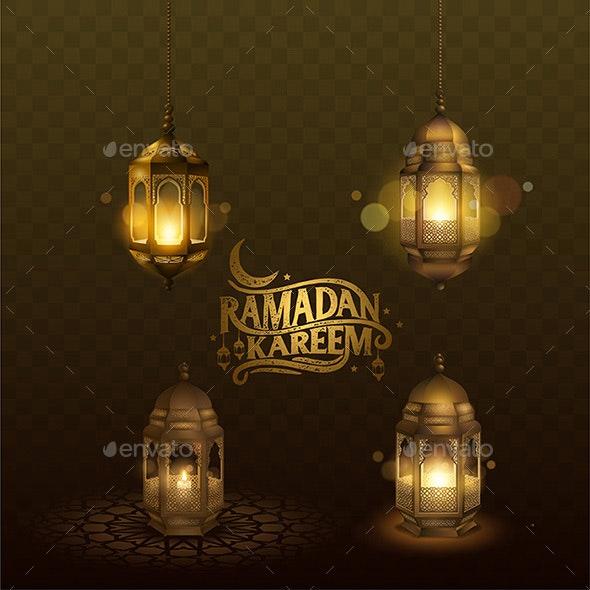 Ramadan Set Lantern - Religion Conceptual