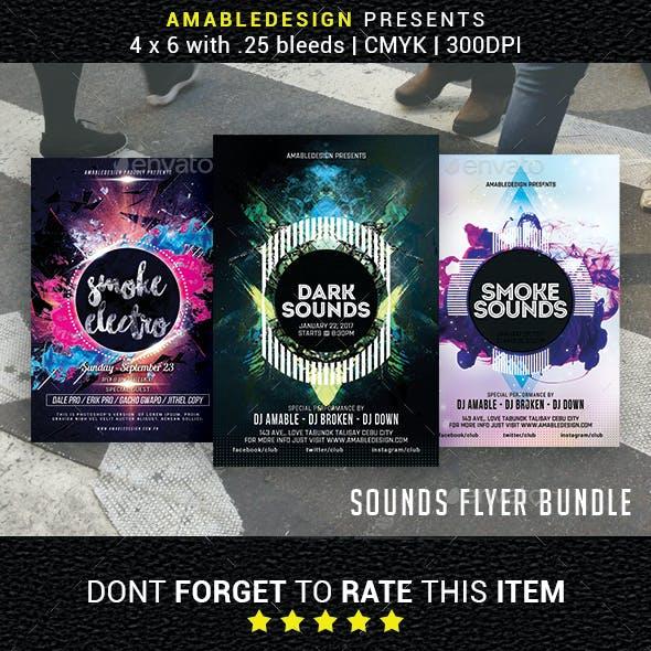 3 in 1 Sounds Flyer/Poster Bundle