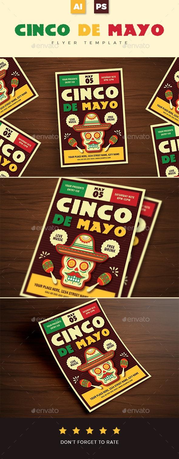 Cinco De Mayo Event Flyer 02 - Holidays Events