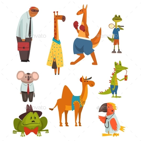 Animals of Different Professions Set - Animals Characters