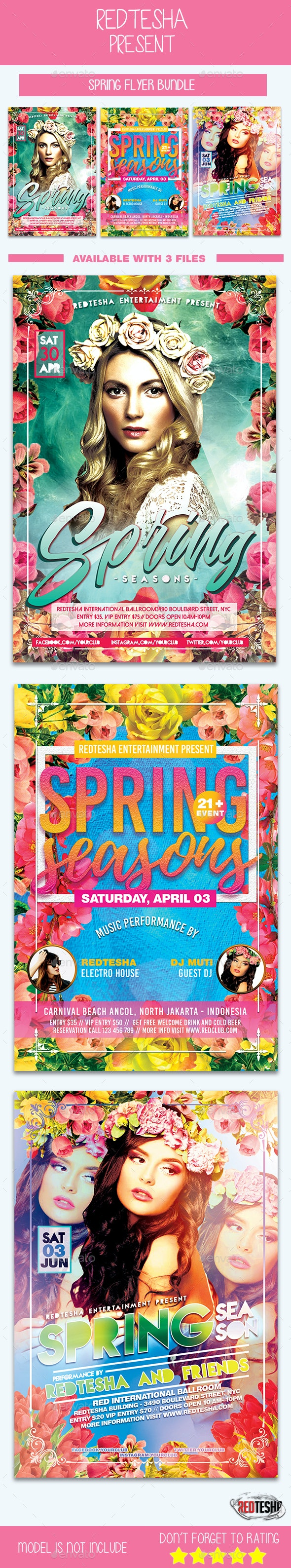 Spring Flyers Bundle - Events Flyers