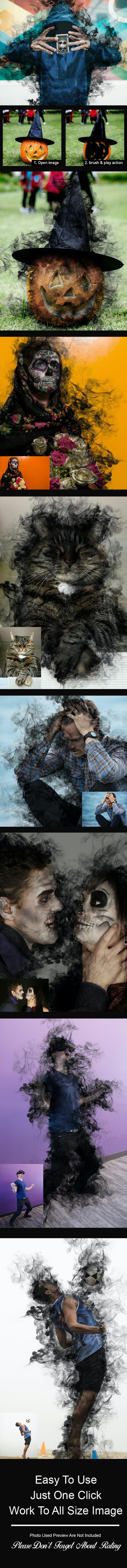 Black Aura Photoshop Action - Photoshop Add-ons
