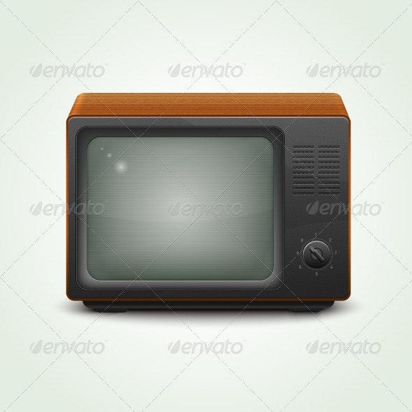 Realistic Retro TV set - Retro Technology