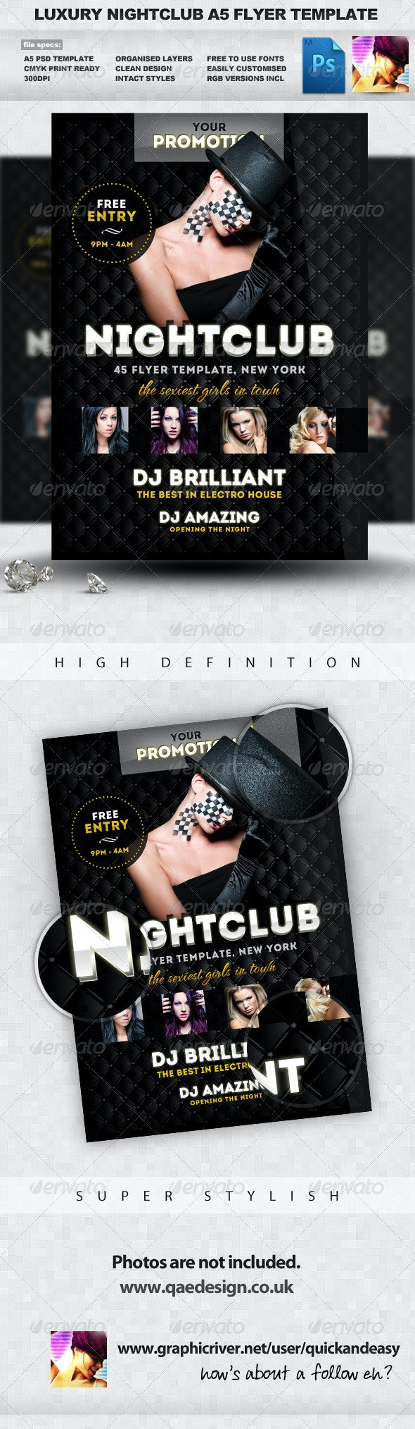 Luxury Nightclub Flyer Template - Clubs & Parties Events