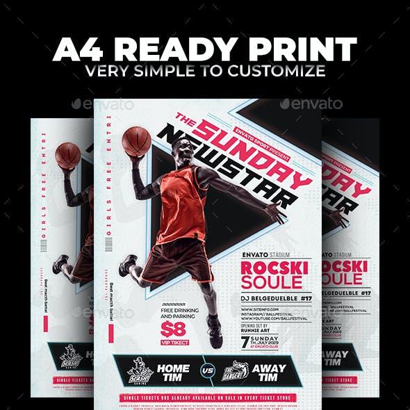 Basketball Match Flyer
