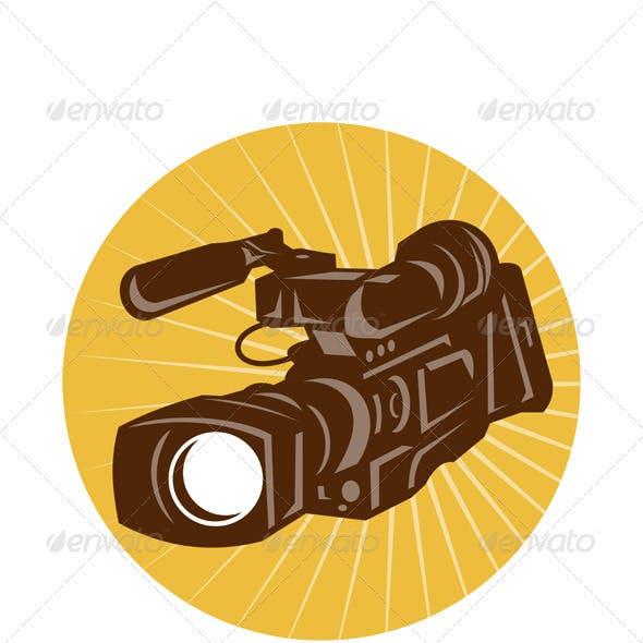 Professional Video Camera Camcorder Retro