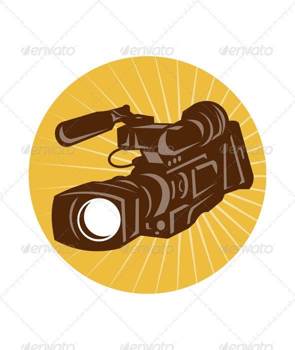 Professional Video Camera Camcorder Retro - Media Technology