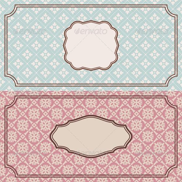 Retro Frames - Borders Decorative