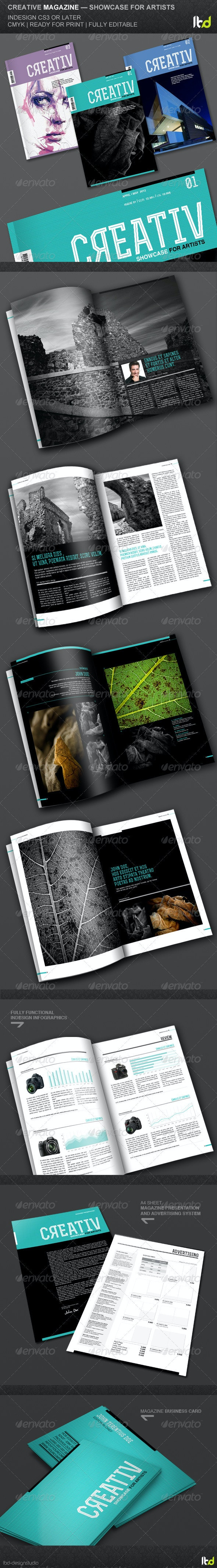 Creative Magazine - Showcase for Artists - Magazines Print Templates