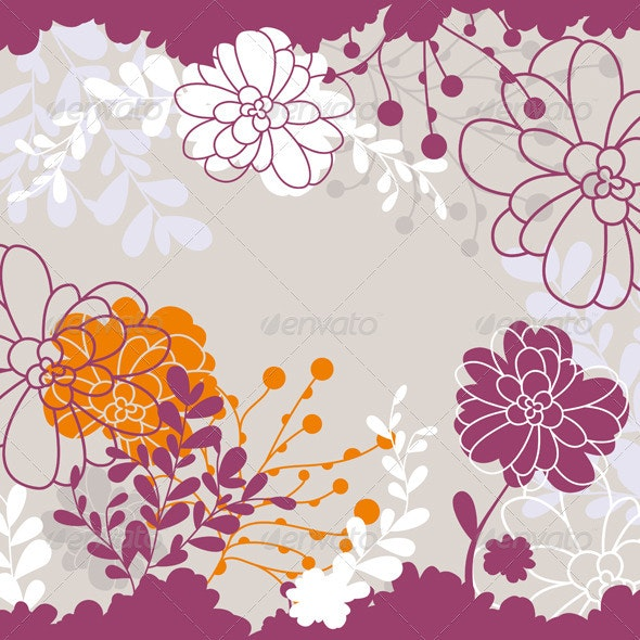 Floral Card - Backgrounds Decorative