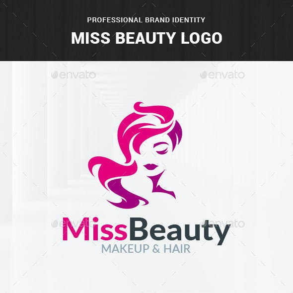 Miss Beauty Logo Template