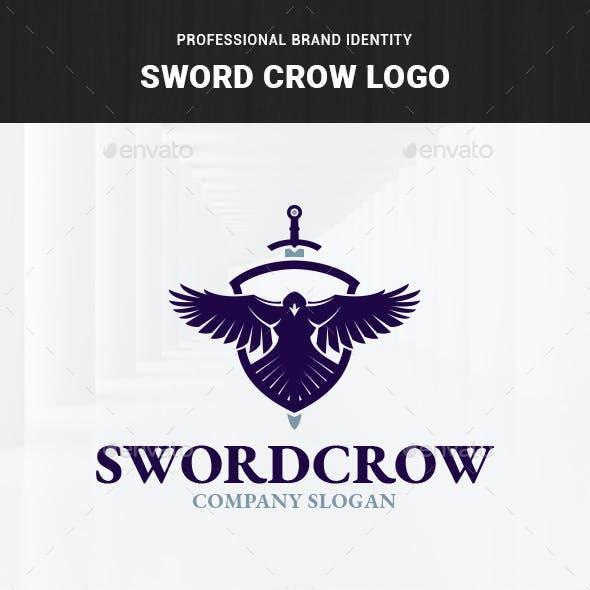 Sword Crow Logo Template