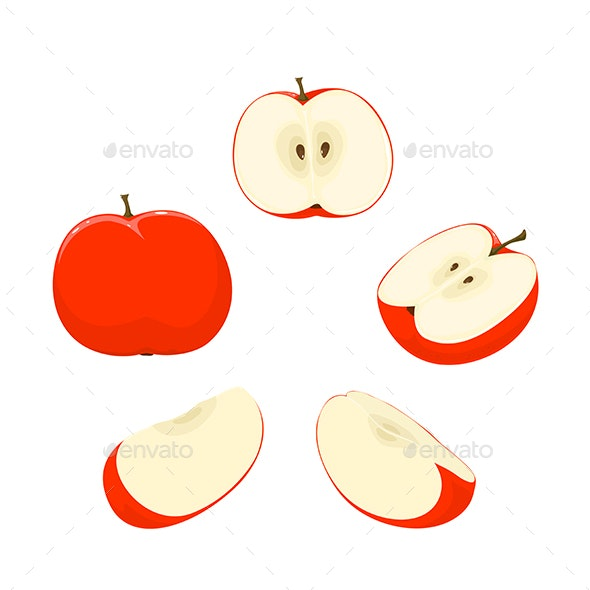 Set of Apples - Food Objects