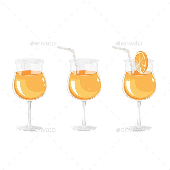 Cocktail in Glass - Food Objects