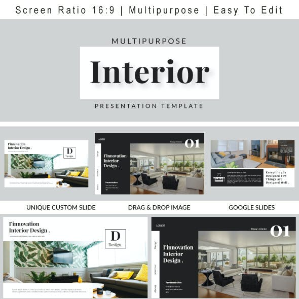 Interior Google Slides Templates