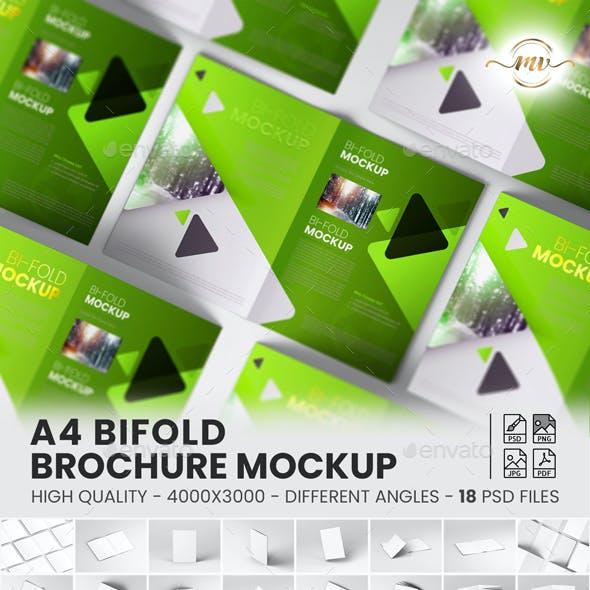 A4 Bifold, Brochure Mockup V3