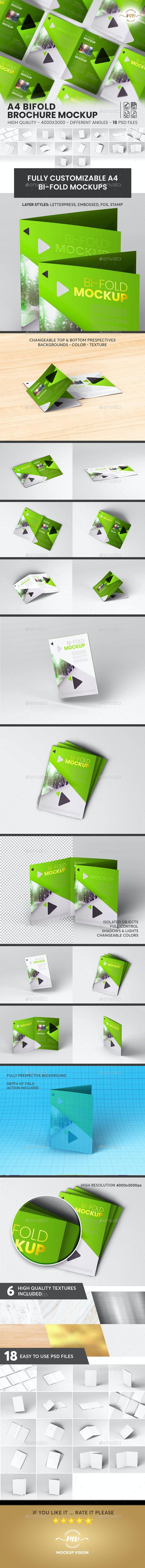 A4 Bifold, Brochure Mockup V3 - Brochures Print