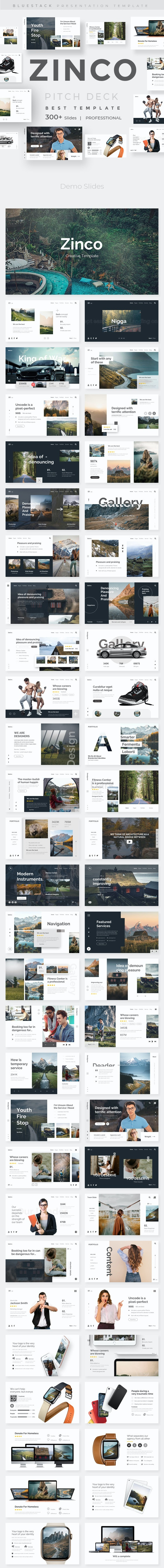 Zinco Premium Keynote Template - Creative Keynote Templates