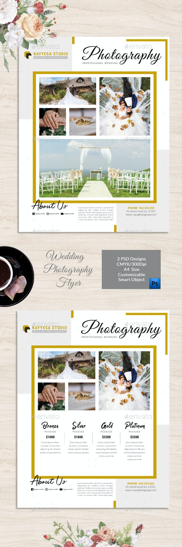 Wedding Photography Flyer v2 - Flyers Print Templates