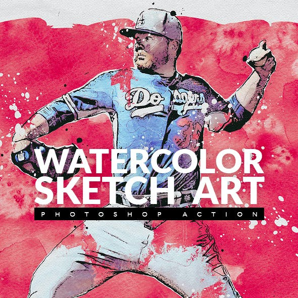 Watercolor Sketch Art Photoshop Action