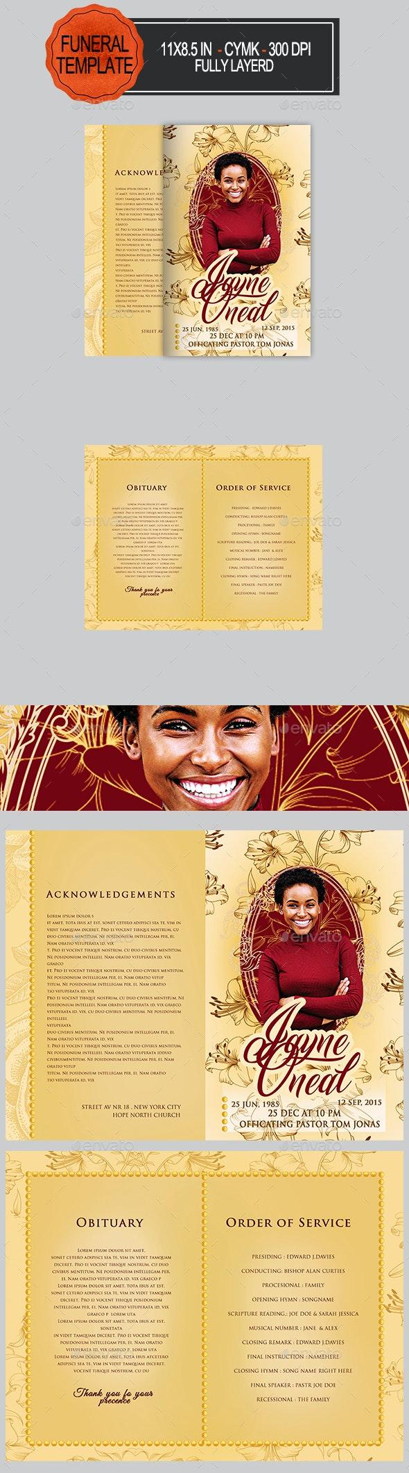Funeral Porgram Template - Informational Brochures
