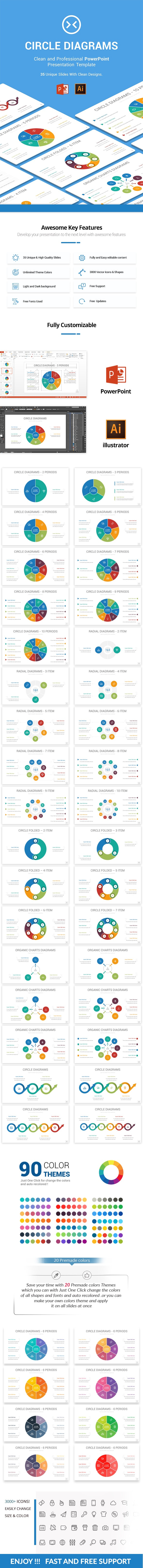 Circle Diagrams PowerPoint, Illustrator Template - Business PowerPoint Templates